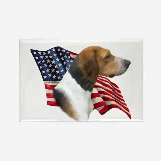 Am Foxhound Flag Rectangle Magnet (100 pack)