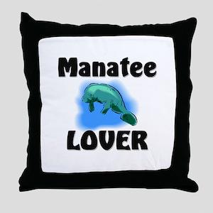 Manatee Lover Throw Pillow