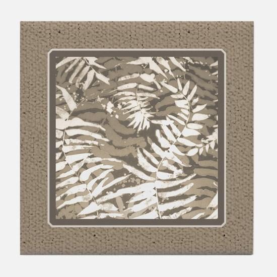 Unique Taupe Tile Coaster