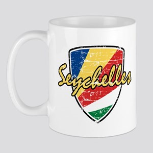 Seychelles distressed flag Mug
