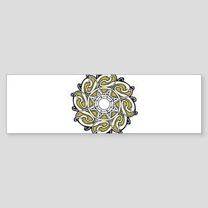 CELTIC18_YELLOWISH Bumper Sticker