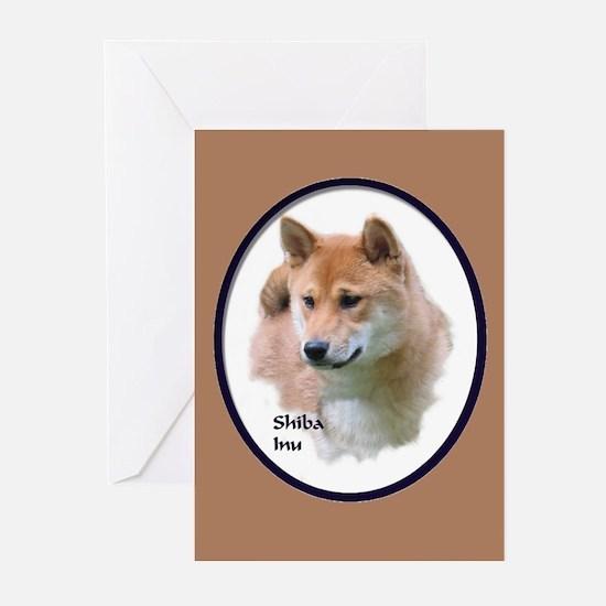 Shiba Inu Art Greeting Cards (Pk of 10)