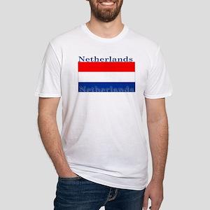 Netherlands Dutch Flag Fitted T-Shirt