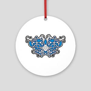 CELTIC24_BLUE Ornament (Round)