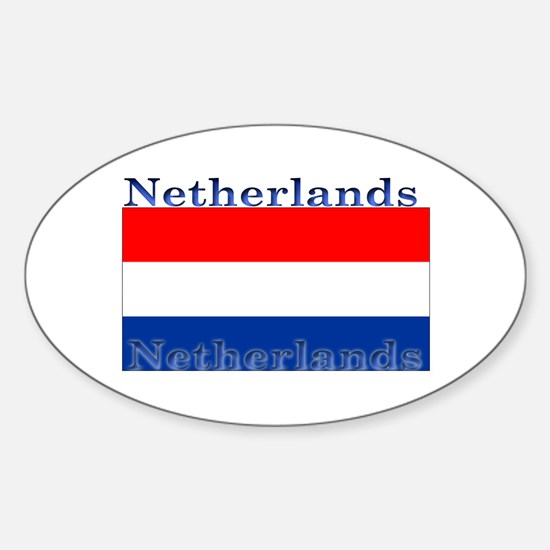 Netherlands Dutch Flag Oval Decal