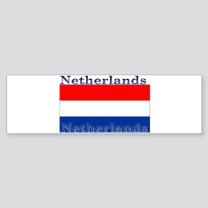 Netherlands Dutch Flag Bumper Sticker