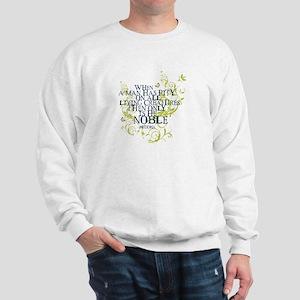 Buddha Vine - Noble Text - Blue Green Sweatshirt