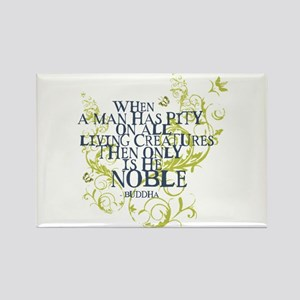 Buddha Vine - Noble Text - Blue Green Rectangle Ma