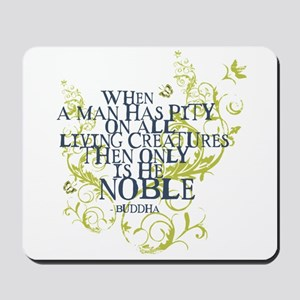Buddha Vine - Noble Text - Blue Green Mousepad