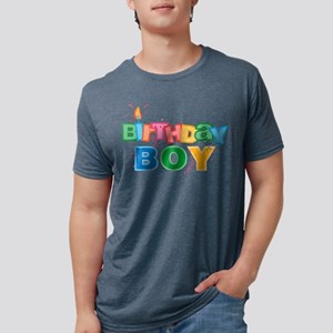 Birthday Boy Letters Mens Tri-Blend Shirt T-Shirt