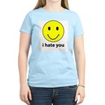 i hate you Women's Pink T-Shirt