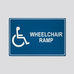 Wheelchair Ramp Notice Rectangle Magnet