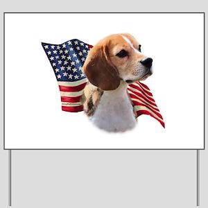 Beagle Flag Yard Sign