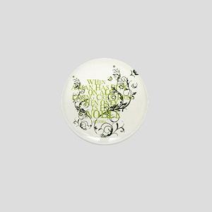 Buddha - Noble Text - Green Mini Button