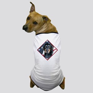 Black & Tan Flag 2 Dog T-Shirt