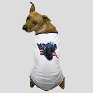 Black Russian Flag Dog T-Shirt