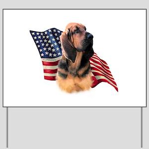 Bloodhound Flag Yard Sign