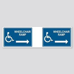 Wheelchair Ramp Notice Bumper Sticker