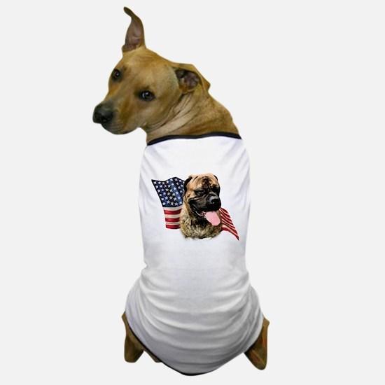 Bullmastiff Flag Dog T-Shirt