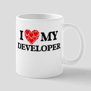 I Love my Developer Mugs