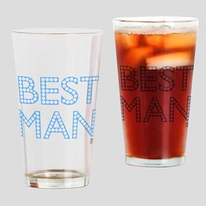 Best Man (blue on black) Drinking Glass
