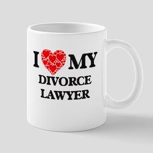 I Love my Divorce Lawyer Mugs