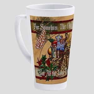 Harvest Moons Christmas Basket 17 oz Latte Mug