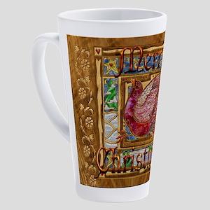 Harvest Moons Christmas Partridge 17 oz Latte Mug