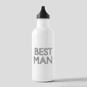 Best Man (black on white) Water Bottle