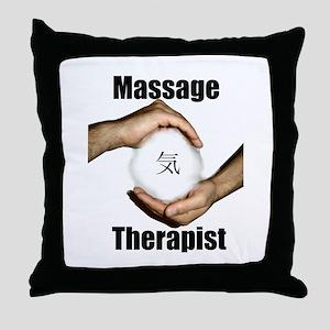 Massage Therapist Energy Throw Pillow