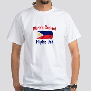 Coolest Filipino Dad White T-Shirt
