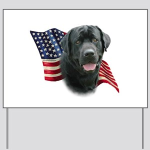 Black Lab Flag Yard Sign