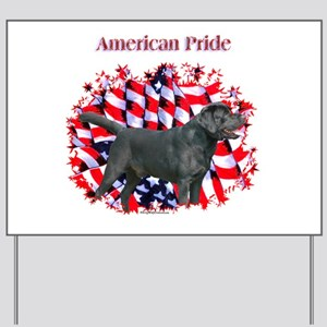 Black Lab Pride Yard Sign