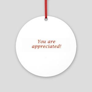 Appreciation Ornament (Round)