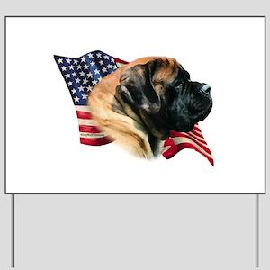 Mastiff(apr) Flag Yard Sign