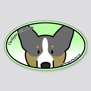 Anime BT Cardigan Welsh Corgi Oval Sticker