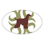 Afghan Hound Tribal Oval Sticker (10 pk)