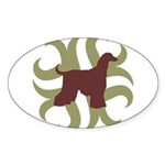 Afghan Hound Tribal Oval Sticker (50 pk)