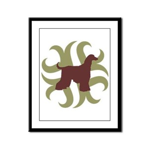 Afghan Hound Tribal Framed Panel Print