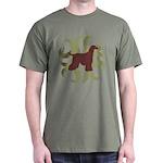 Afghan Hound Tribal Dark T-Shirt
