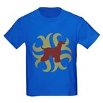 Afghan Hound Tribal Kids Dark T-Shirt