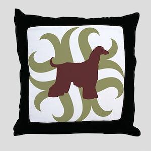 Afghan Hound Tribal Throw Pillow