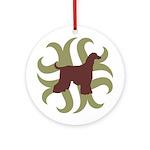 Afghan Hound Tribal Ornament (Round)