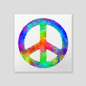 Distressed Rainbow Peace Sign Sticker