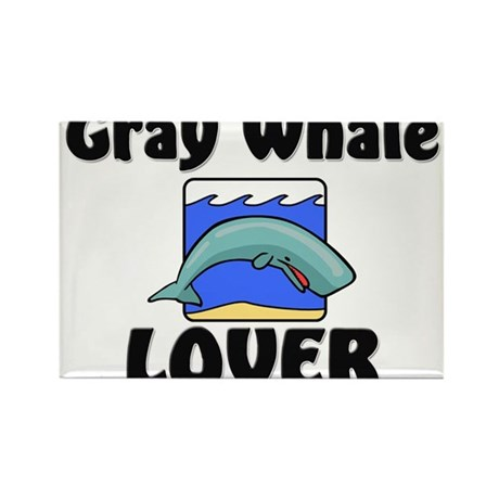 Gray Whale Lover Rectangle Magnet