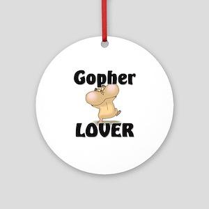 Gopher Lover Ornament (Round)