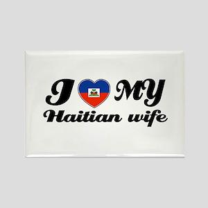 I love my Haitian Wife Rectangle Magnet