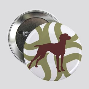 "Vizsla Dog Tribal 2.25"" Button"