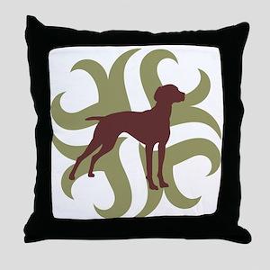 Vizsla Dog Tribal Throw Pillow