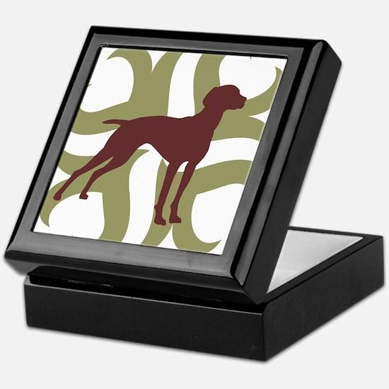 Vizsla Dog Tribal Keepsake Box